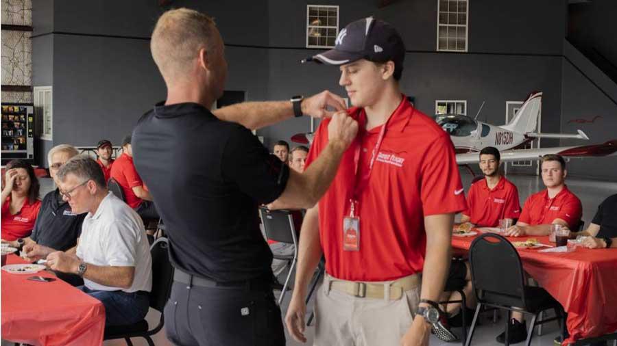 2019 flight school pinning ceremony