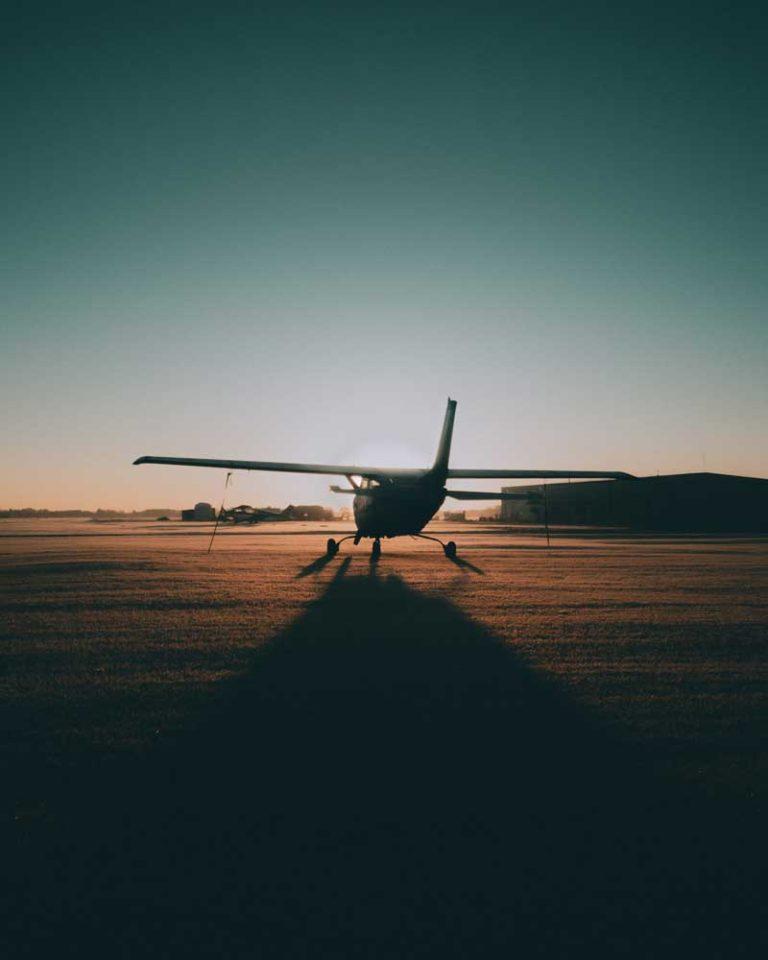 Cessna 172 on the ground