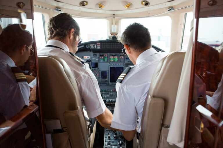 Two pilots in the cockpit