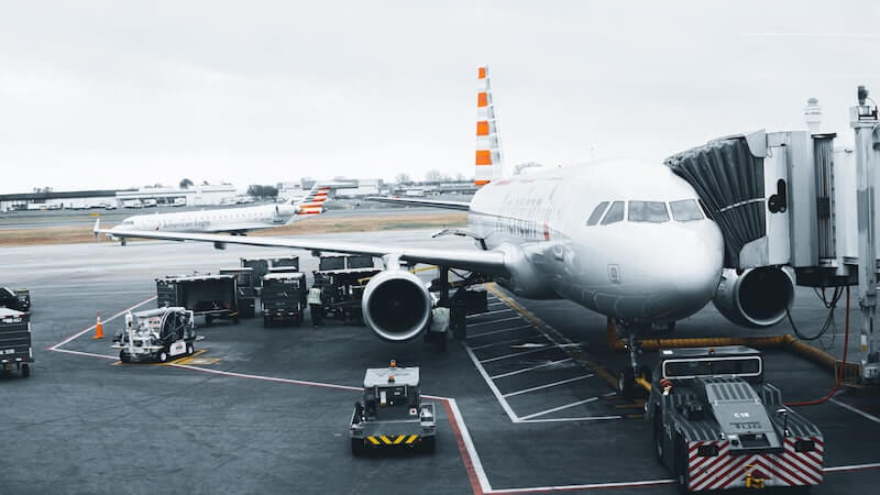Jet at the terminal