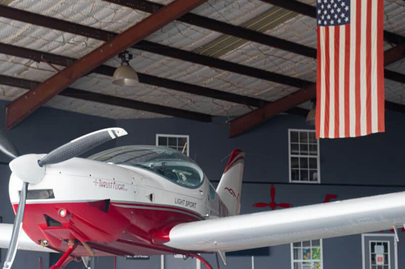 Sportcruiser in the hangar