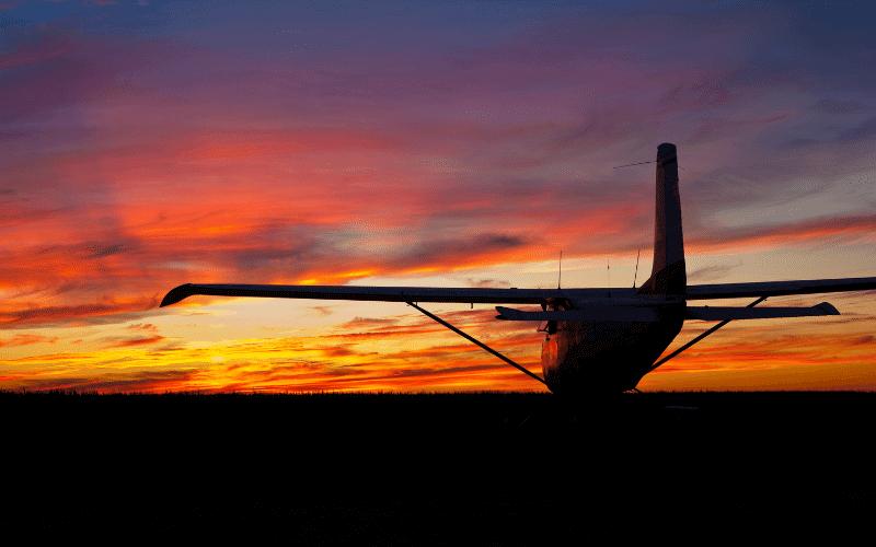 Airmanship - Cessna at sunset