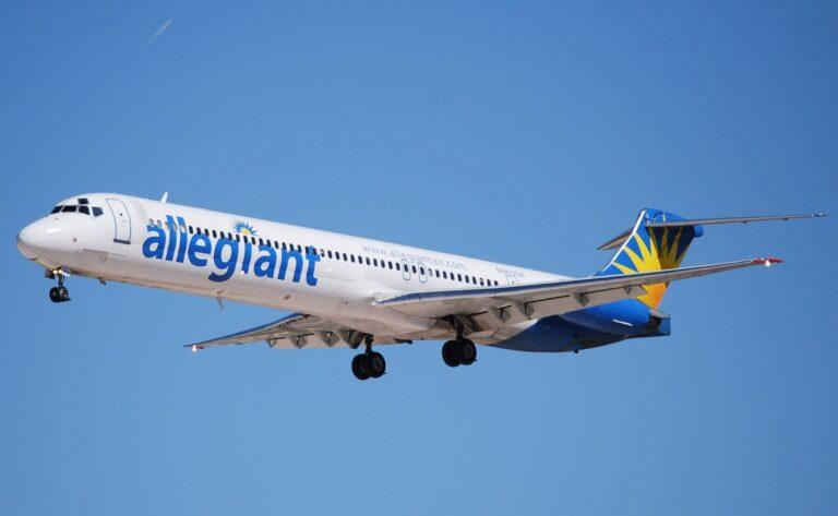 Allegiant Air jet flying